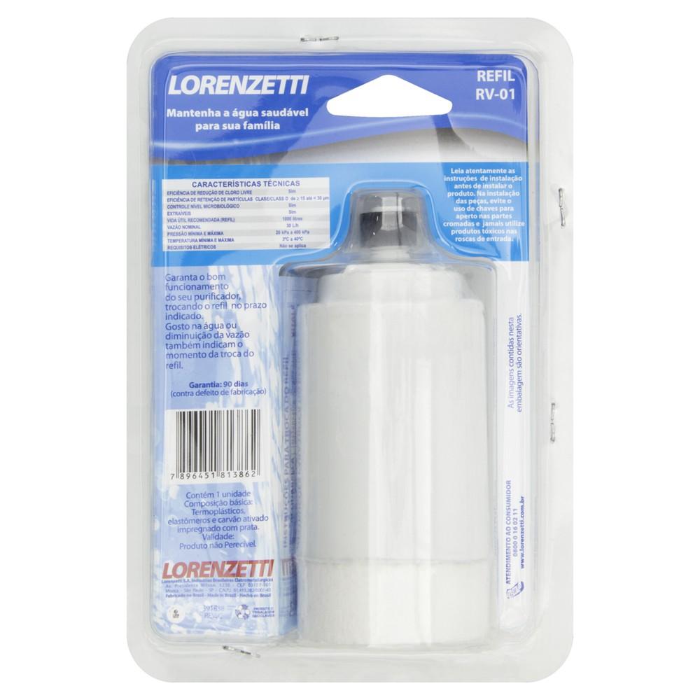 Refil para filtros de água vitale e acqua bella