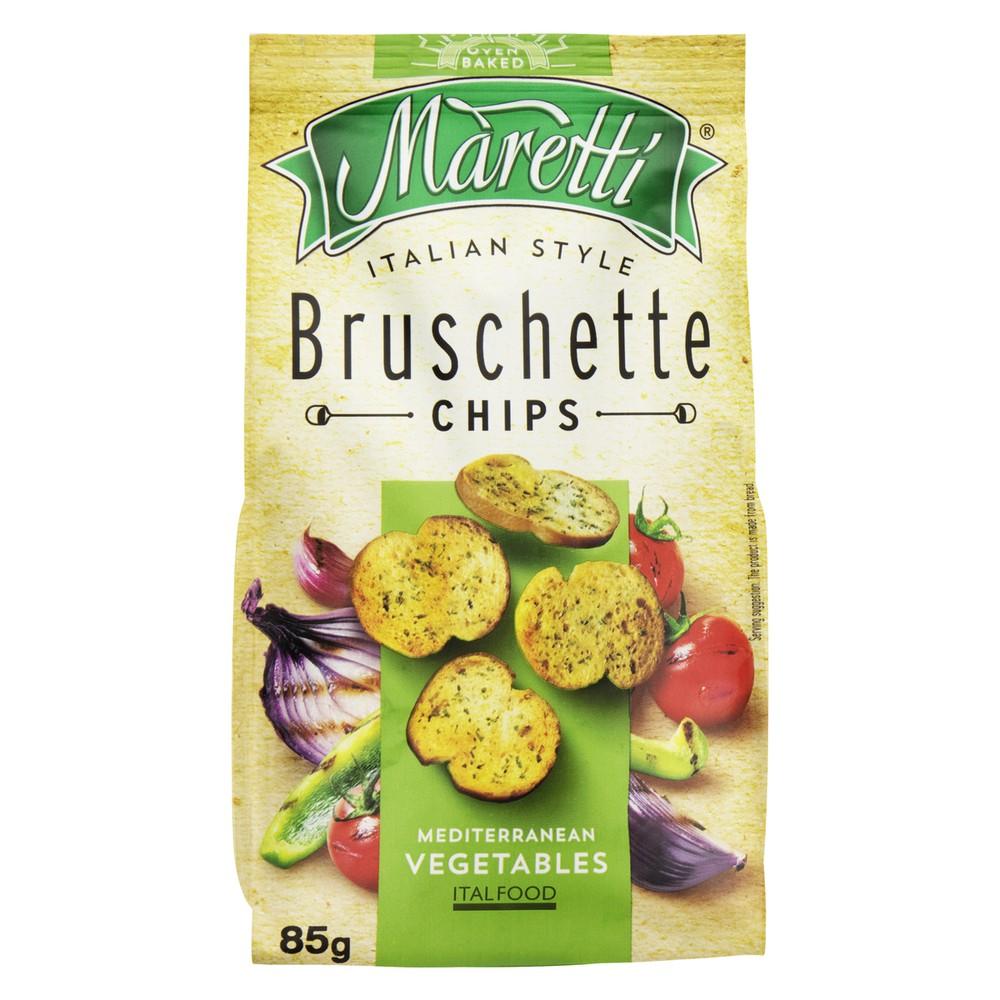 Bruschette chips mediterranean vegetable