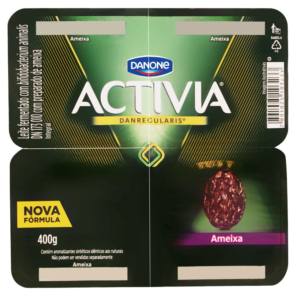 Iogurte probiótico sabor ameixa Activia