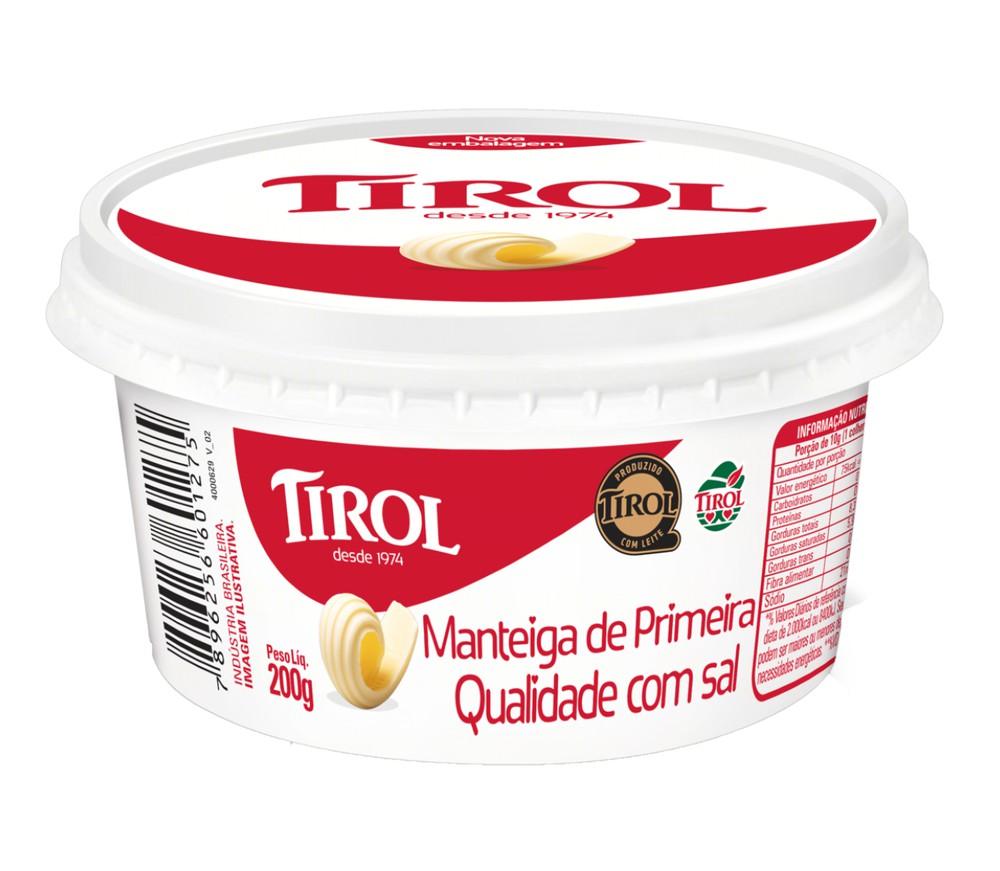 Manteiga de primeira qualidade com sal