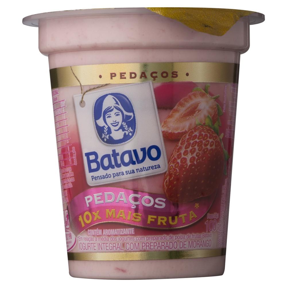 Iogurte integral morango pedaços
