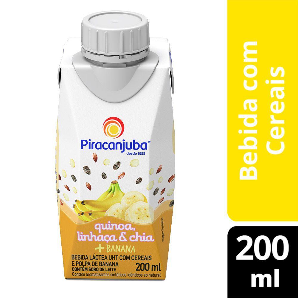 Bebida láctea de quinoa, linhaça, chia e banana