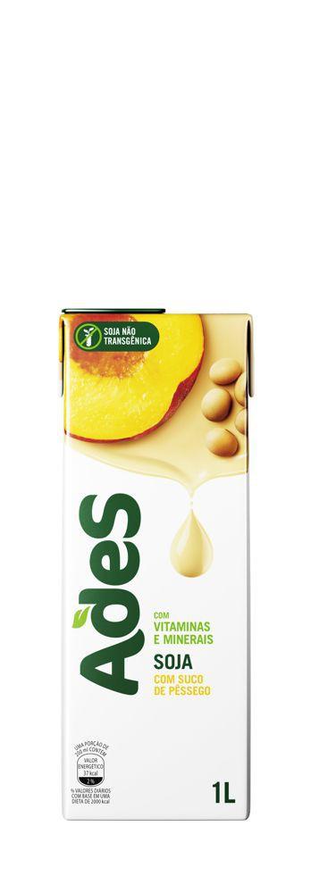 Bebida à base de soja sabor pêssego