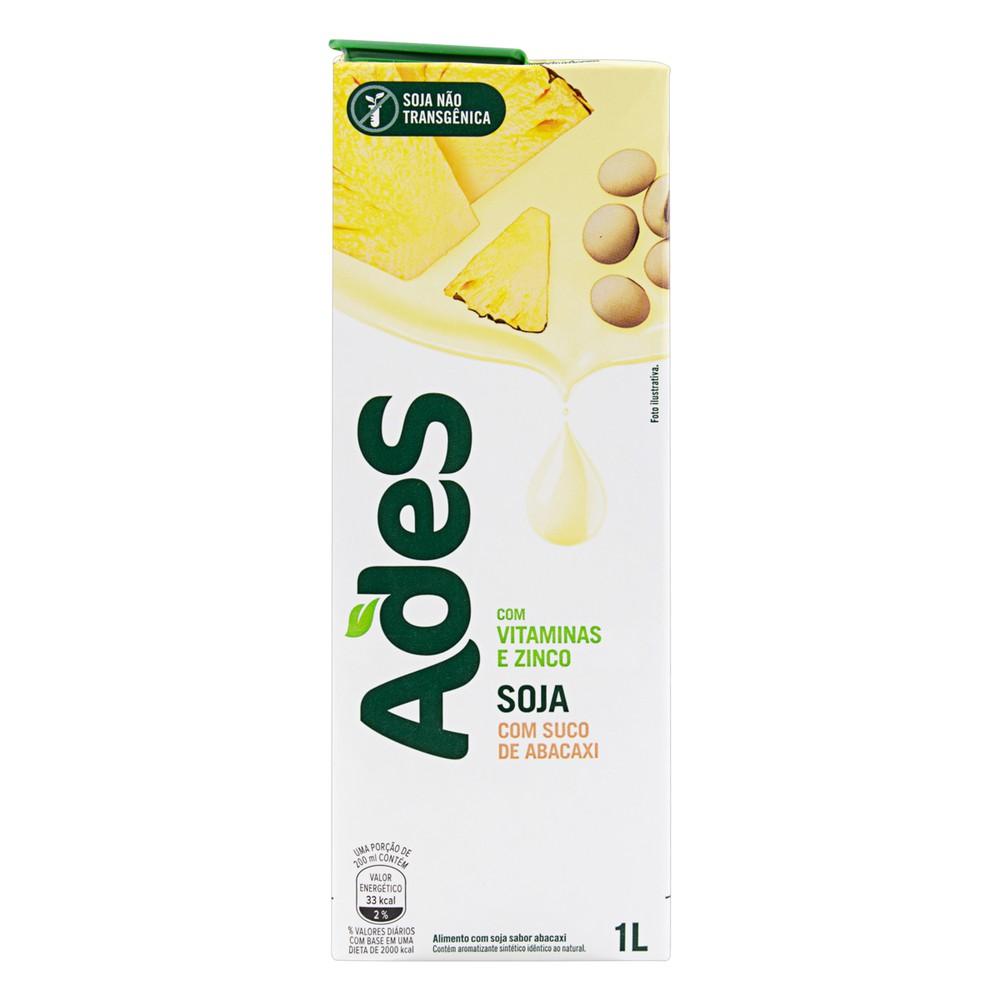 Bebida à base de soja abacaxi