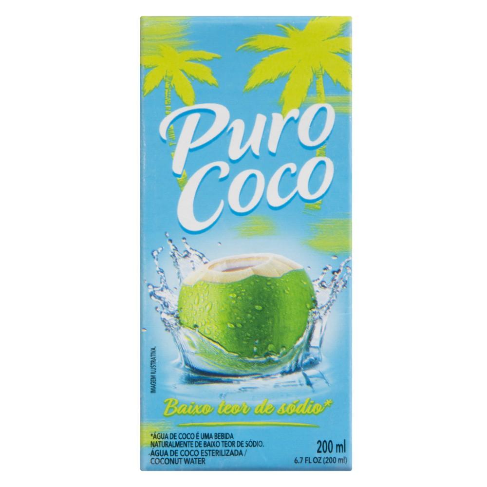 Água de coco esterilizada