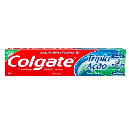 Creme dental menta original tripla ação