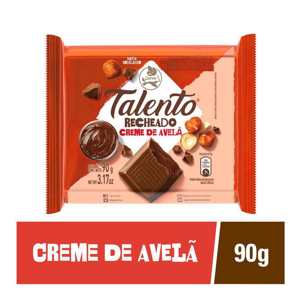 Chocolate recheado com creme de avelã Talento