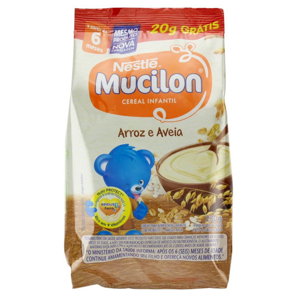 Cereal infantil arroz e aveia