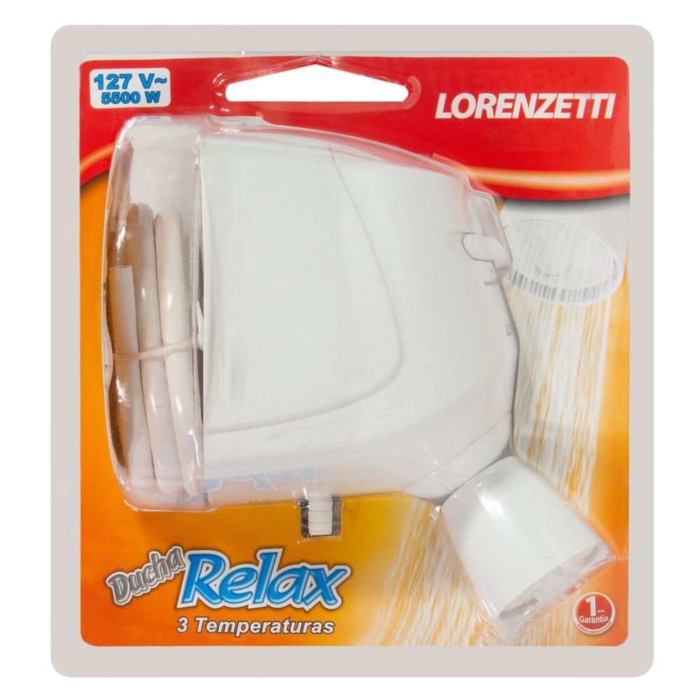 Ducha Elétrica 3 Temperaturas Relax Lorenzetti 127V