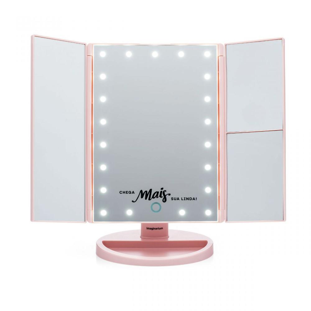 Espelho de aumento com led chega mais