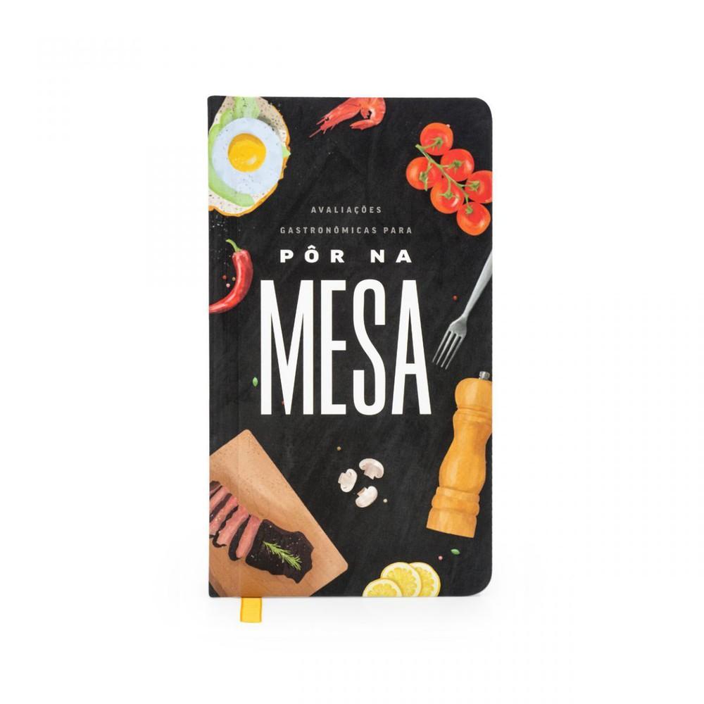 Caderno avaliacoes gastronomicas na mesa