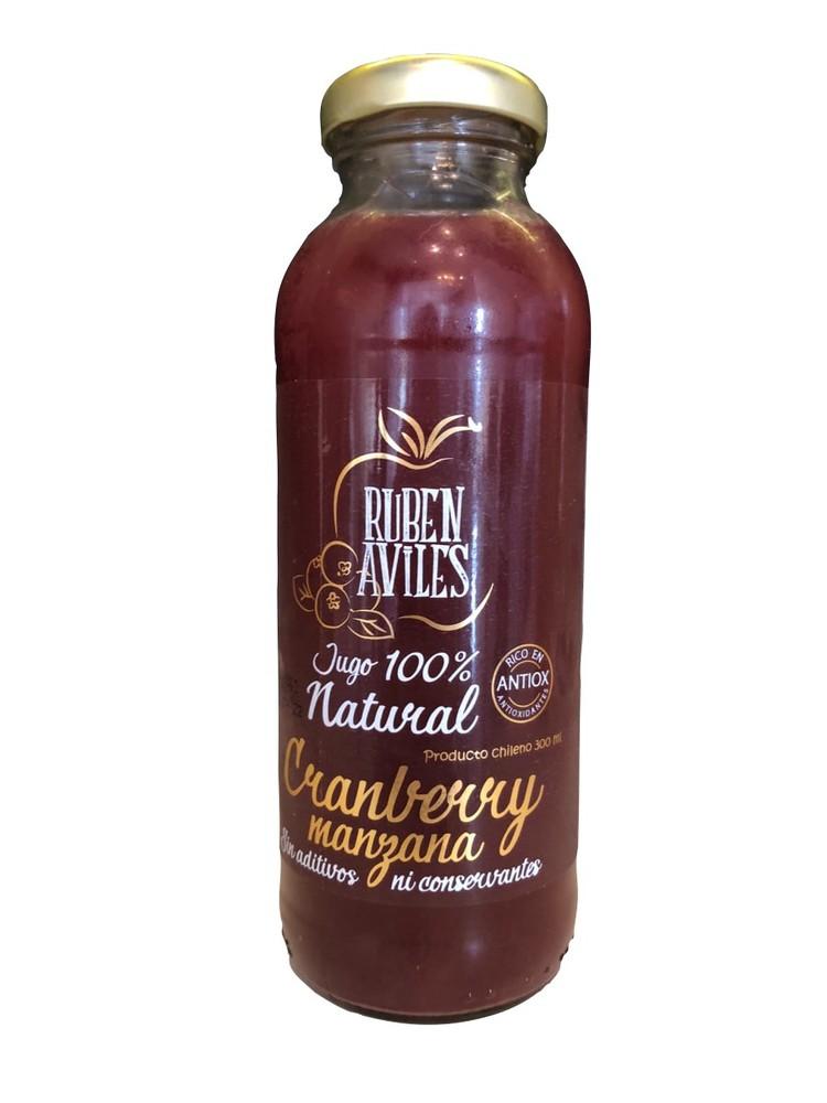 Jugo de manzana cranberry