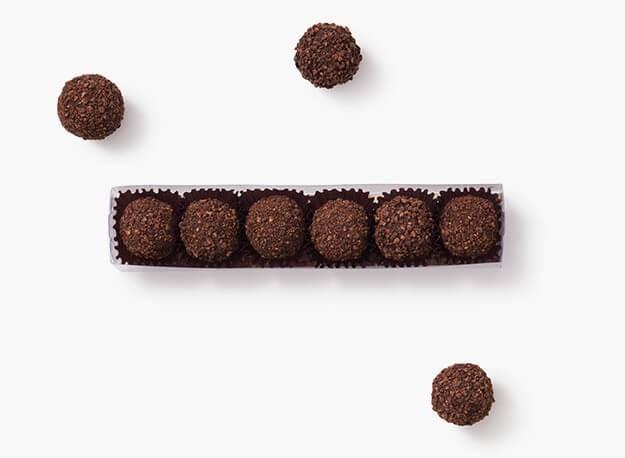6 truffes du jour - cacau 70%