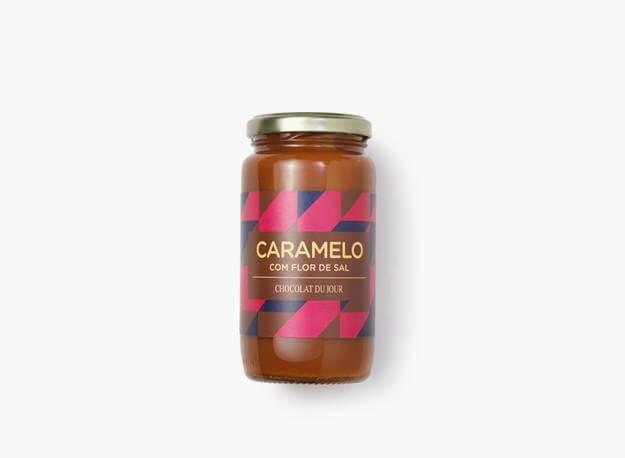 Caramelo com flor de sal pote