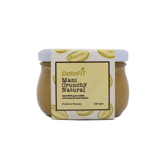 Mantequilla de maní crunchy natural