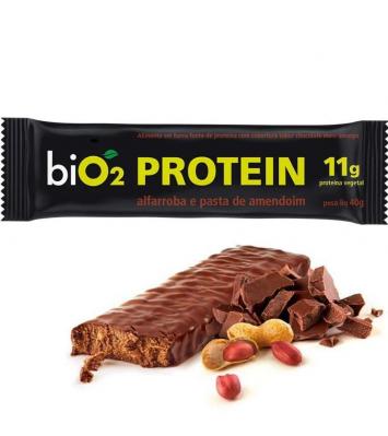 Barra de proteína - pasta de amendoim e alfarroba