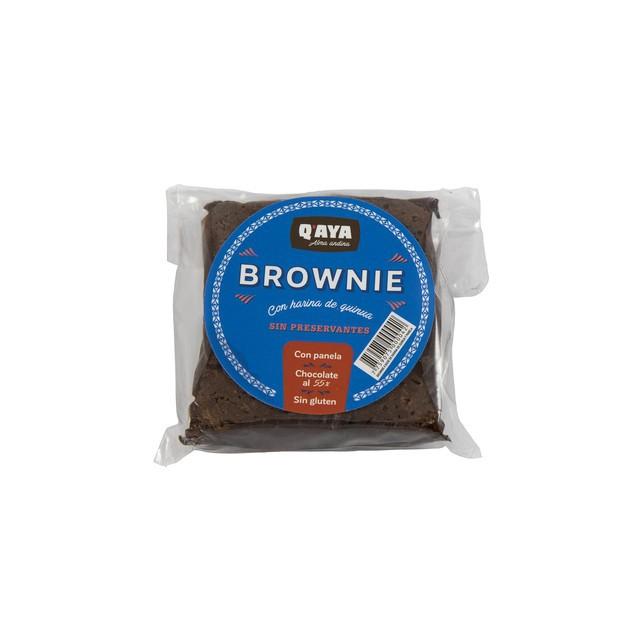 Brownie con harina de quinua y panela