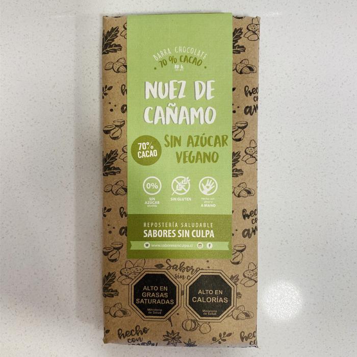 Chocolate nuez de cáñamo vegano 80g