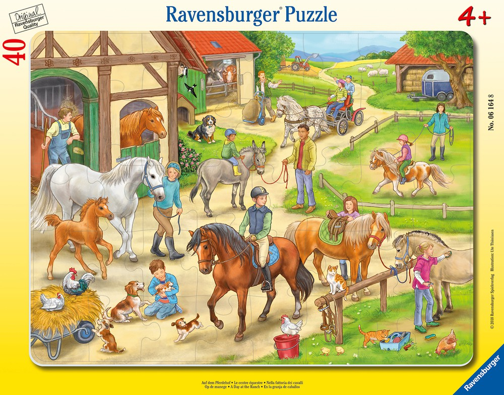 Puzzle enmarcado - día en el rancho Envoltorio plástico 29 cm x 1 cm x 37 cm, 290 grs.