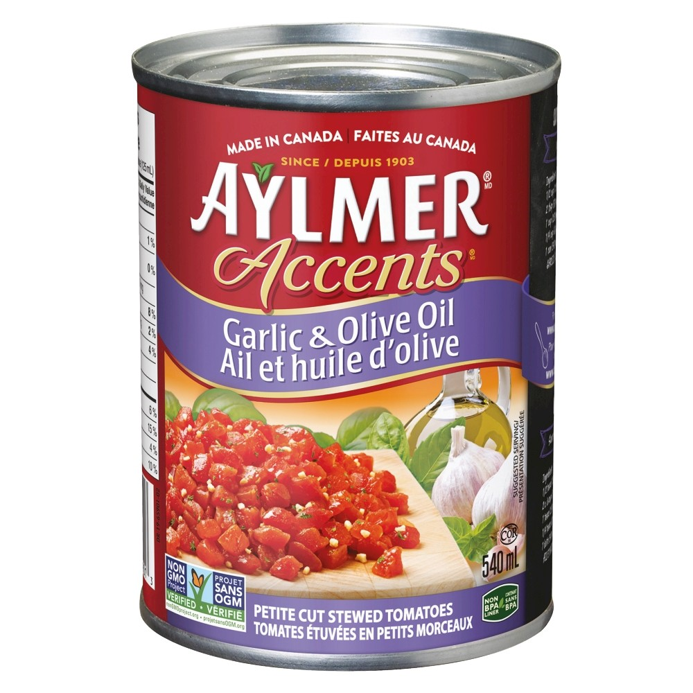 Accents petite cut garlic olive oil tomatoes