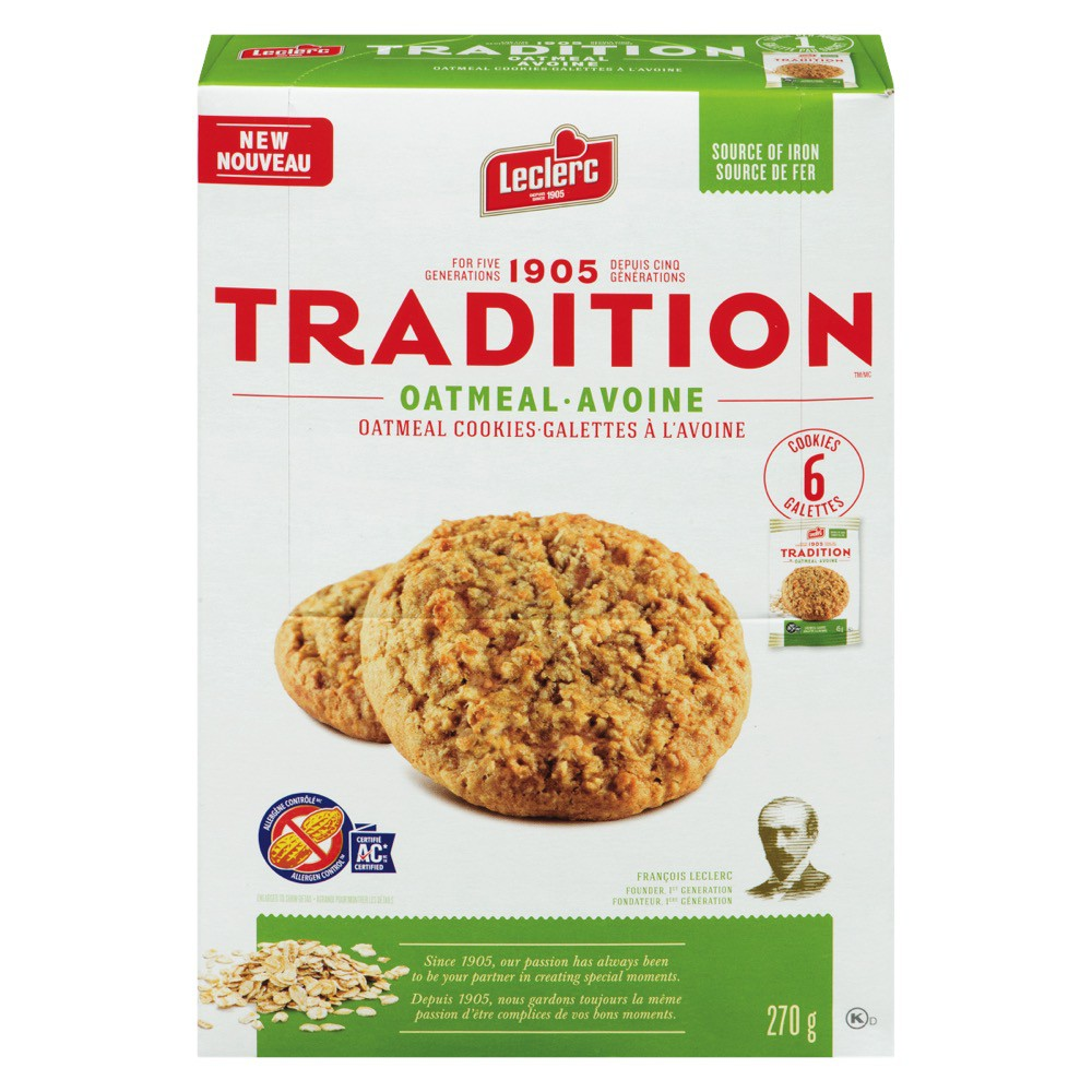 Oat Cookies Leclerc 270 G Delivery Cornershop Canada