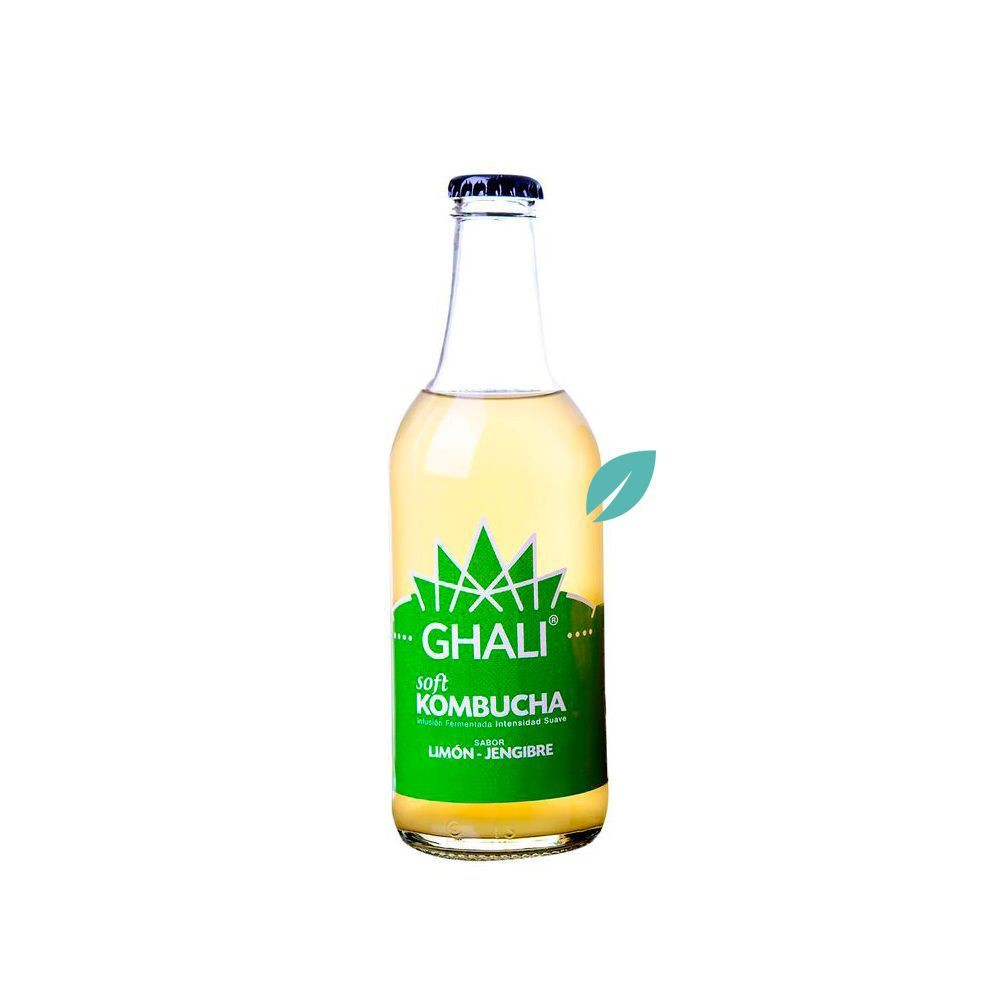 Kombucha sabor limón-jengibre