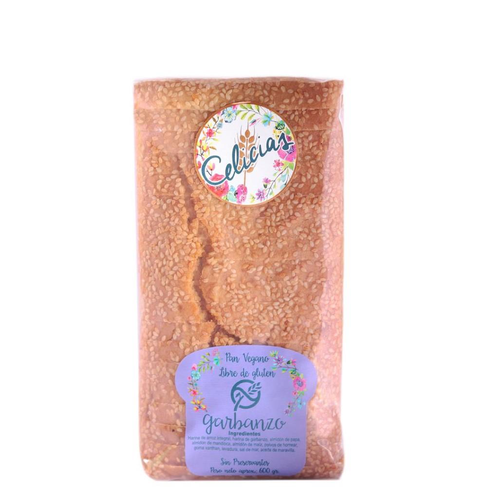 Pan de harina de garbanzo  (vegano, sin gluten)
