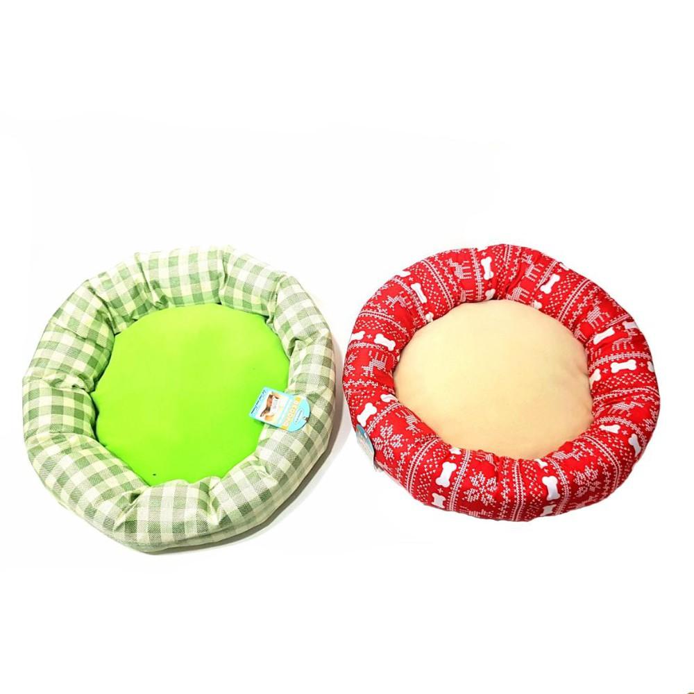 Cama circular (roja y verde)