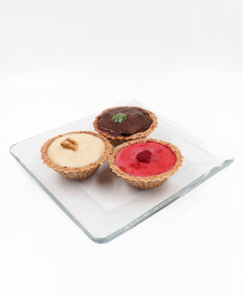 Trilogía de mini-quiches dulces