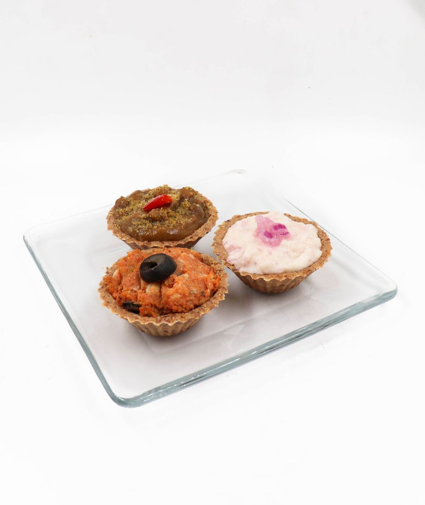 Trilogía de mini-quiches saladas