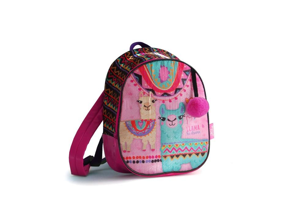 Mochila llama andina rosada