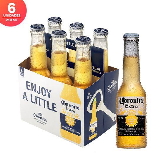 Cerveza coronita x6 6 un