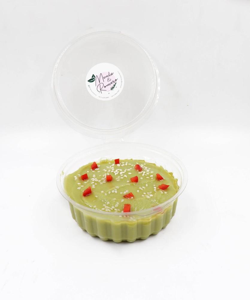 Hummus de arvejas con pan (vegano, sin gluten)
