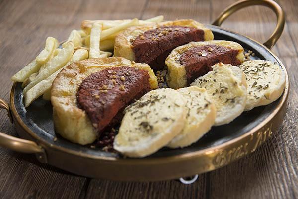 Picanha de grão-de-bico com gordura sabor cheddar