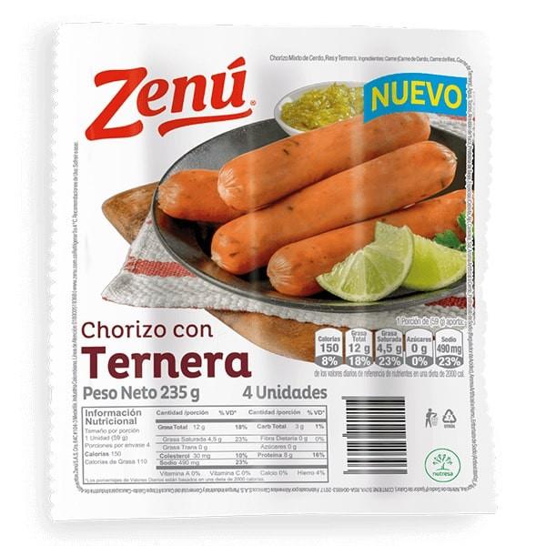 Chorizo con ternera