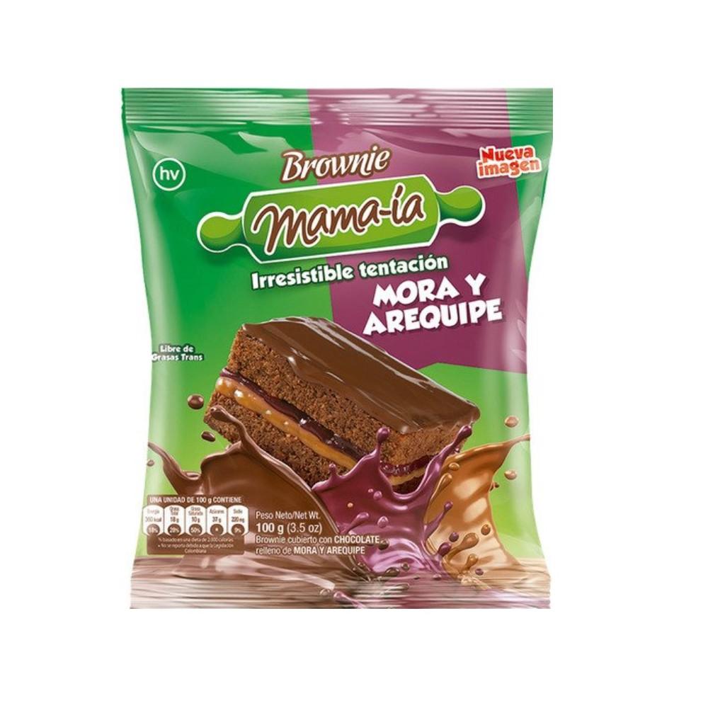 Brownie mora y arequipe