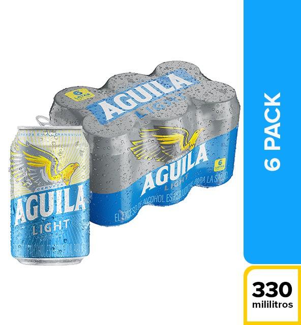 Cerveza light 6 u x 330 ml c/u