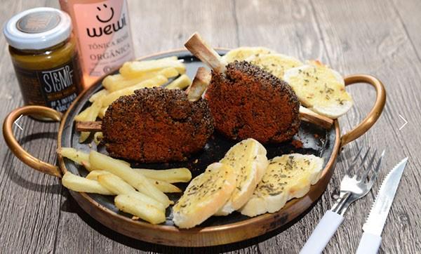 Carré de quinoa preta & shimeji