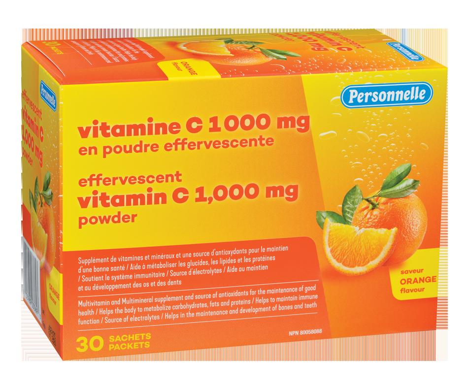 Effervescent Vitamin C Powder, 30 units, Orange