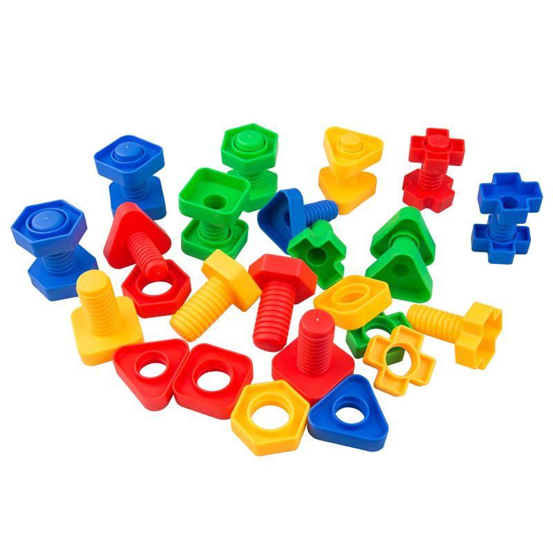 Juego de clasificación tornillos y tuercas 52 piezas