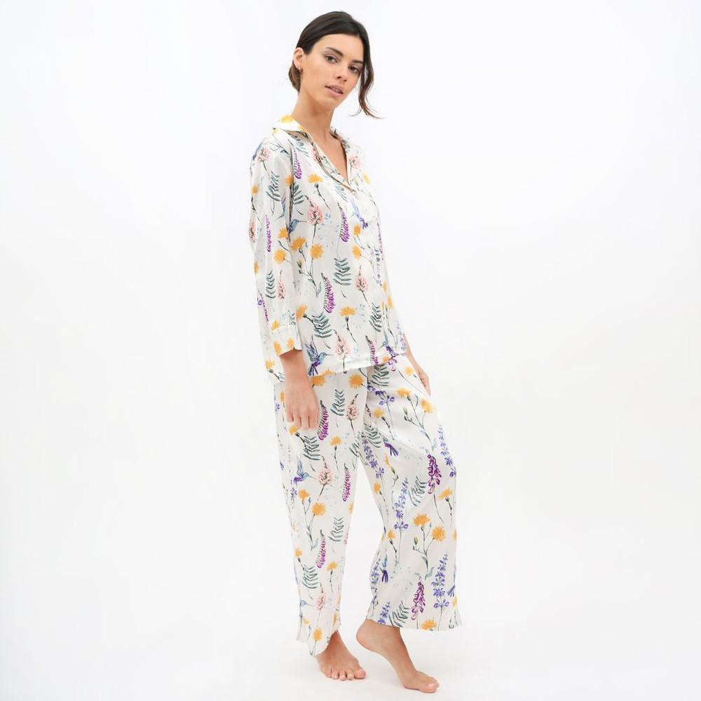 Pijama Mujer Conjunto Colibrí Talla M