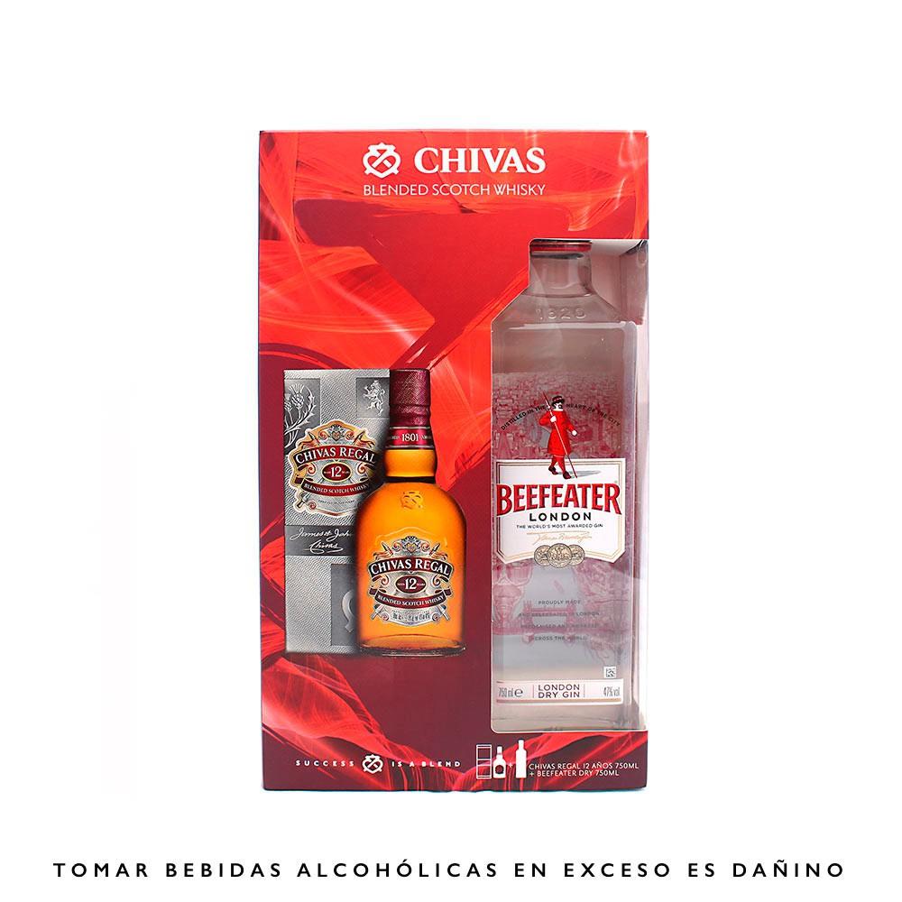 Whisky Chivas Regal 12 Años Botella 750 ml + Beefeater Gin Botella 750 ml