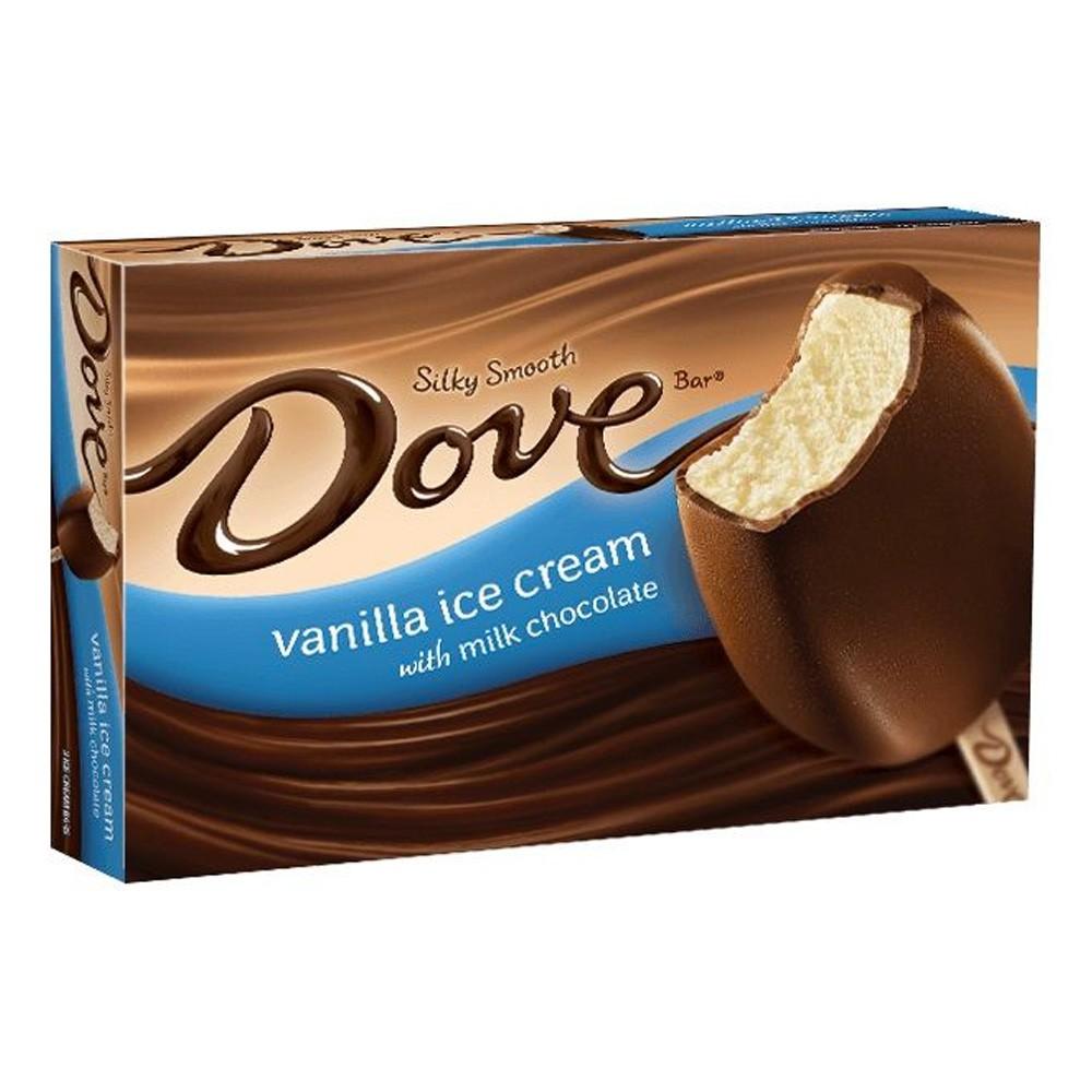 Helado Dove Bar Mars Vainilla & Milk Chocolate Caja 3 Unid