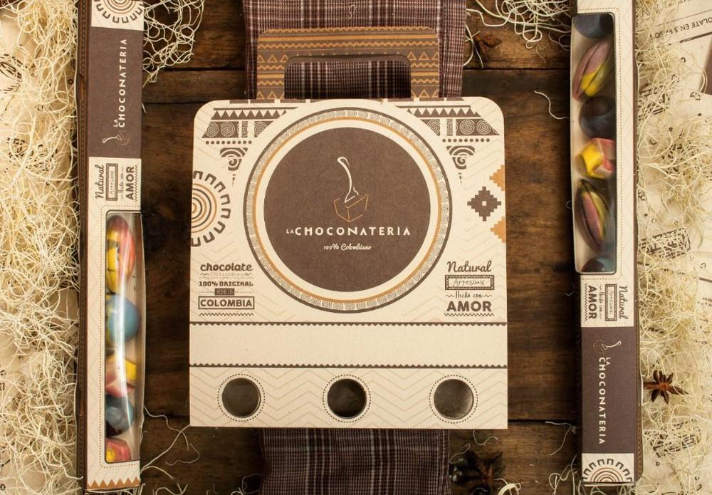 Empaque de tres cucharas de chocolate con licor Empaque de tres 75 gr