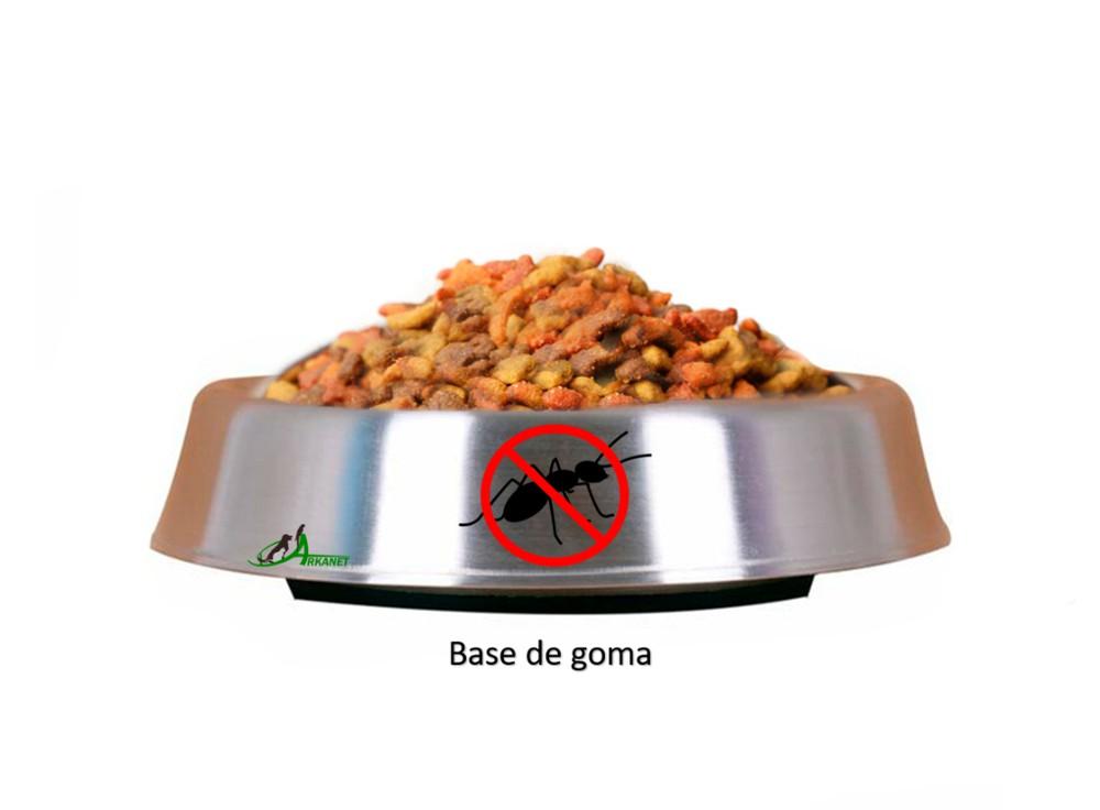 Plato comida anti-hormigas antideslizante