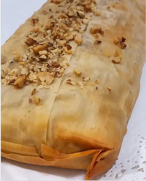 Strudel de manzana /sin azúcar, sin lactosa