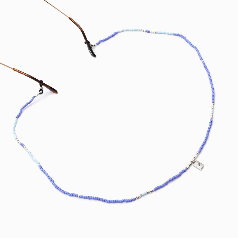 Tira de anteojos mostacillas morado