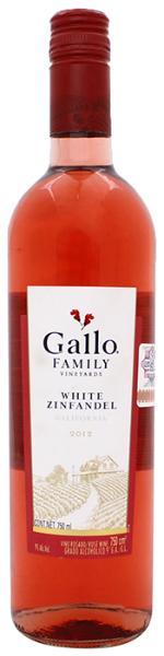Vino rosado white zinfandel 2012