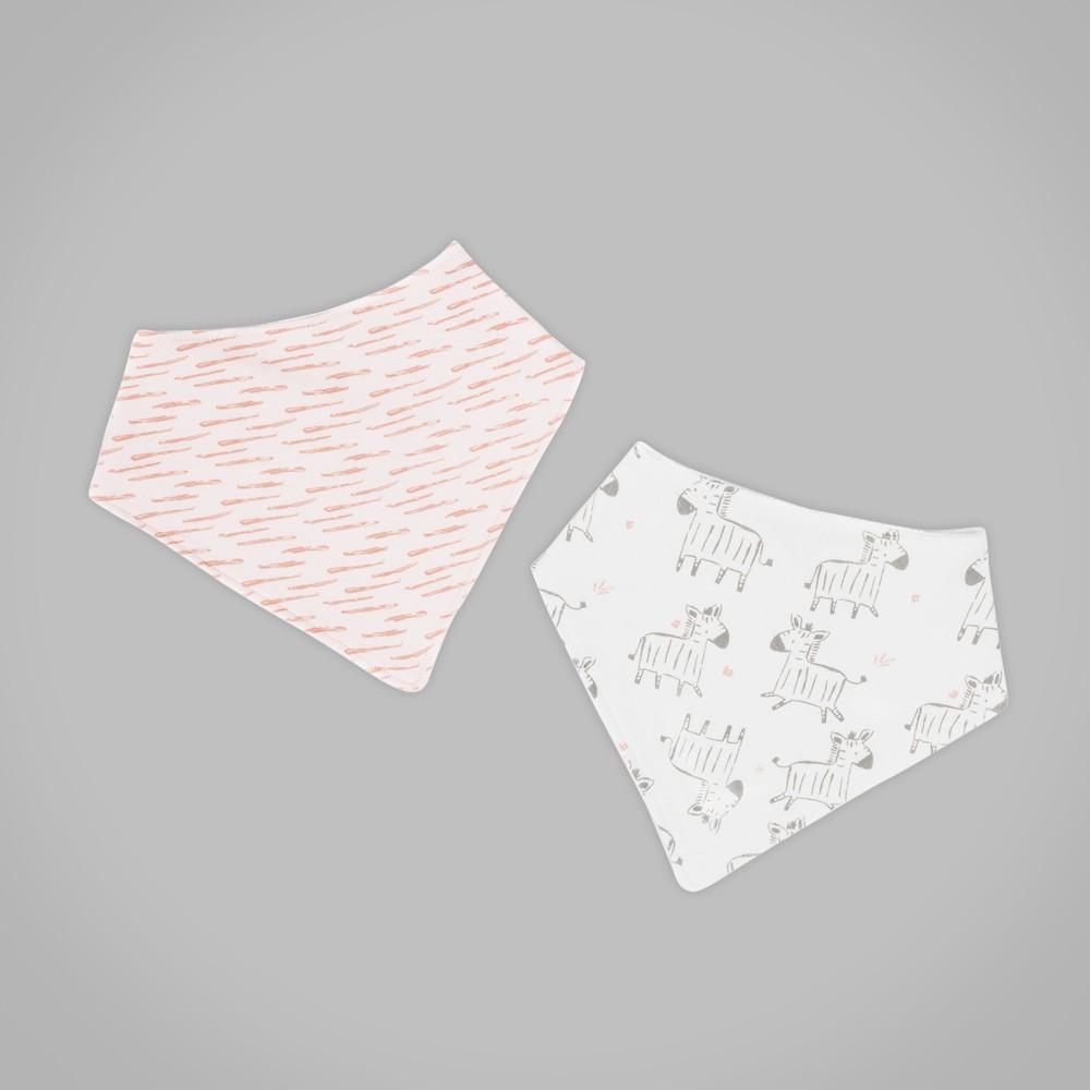Babero pañoleta rosados claro new born girl Talla Unica