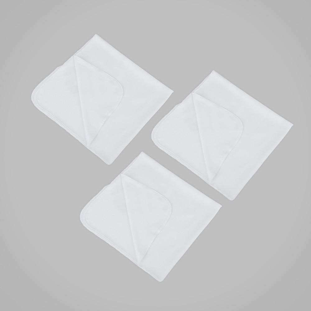 Set de manta de algodón color blanco new born unisex
